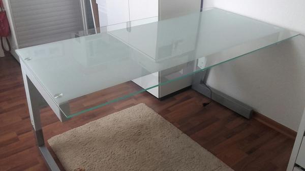schreibtisch glas neu und gebraucht kaufen bei. Black Bedroom Furniture Sets. Home Design Ideas