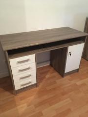 Schreibtisch Braun/Creme
