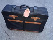 schwarz-braunen Reisekoffer BxTxH ca 78x50x19cm