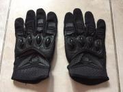 schwarze Fox Motorrad Handschuhe Größe
