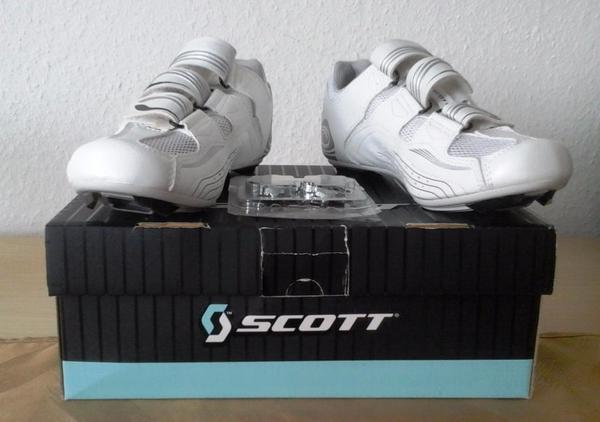 Scott Indoor Cycling Schuhe brandneu - München Sendling - Scott Rennrad- / Spinning-Schuhe, weiss, entsprechend Schuhgröße 36, gar nicht getragen, zum Selbstabholen - München Sendling