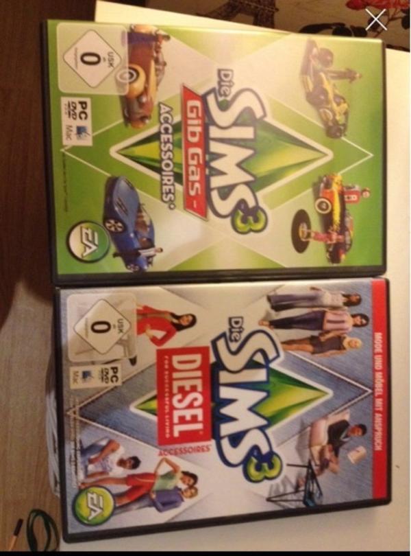 Sims 2 Erweiterungen - Karlsruhe Rüppurr - Verkaufe zwei Erweiterungen für Sims 2, bisher nur einmal installiert, 2x noch möglich ! Beide Spiele sind in gutem Zustand ( gib Gas Accessoires & Diesel Accessoires) !Können auch einzeln gekauft werden zu je 12 !Bei Kontakt über - Karlsruhe Rüppurr