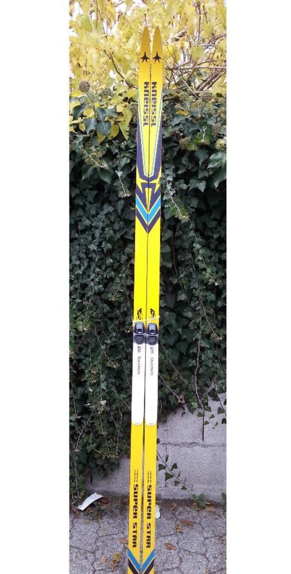 Ski-Langlauf**KNEISSL**210cm - München Untergiesing-harlaching - - Langlaufsk-SET-KNEISSL+Bindung.- Belag und Kanten im gutem Zustand. - Es befindet sich in einem gutem Zustand. - Das Ski ist genau das Richtige für Anfänger und ebenso für Fortgeschrittene.- Versand gerne, mit Aufpr - München Untergiesing-harlaching