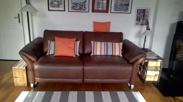 sofa chilliano der edelmarke schillig tobacco leder elektrische mechanik in regensburg. Black Bedroom Furniture Sets. Home Design Ideas