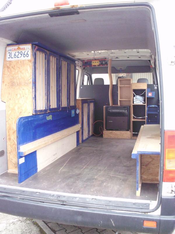 solider praktischer innenausbau f r lt oder sprinter in. Black Bedroom Furniture Sets. Home Design Ideas