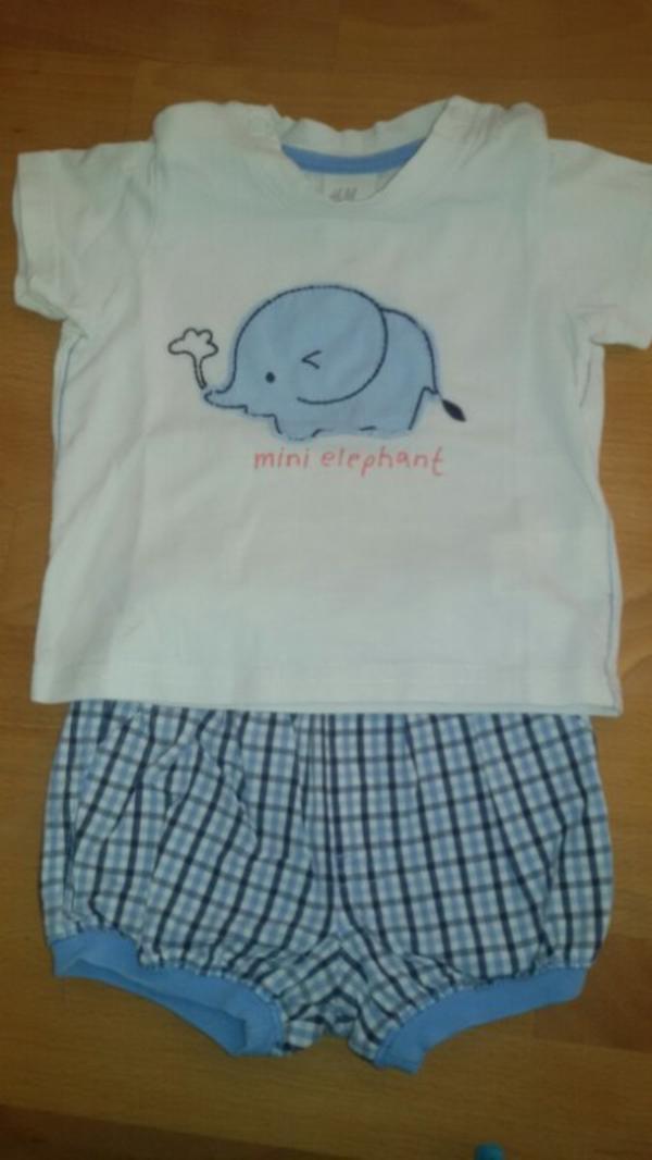 Sommerliches Babyset in Gr. 62 T-Shirt und kurzer Hose von H&M - Nürnberg Buchenbühl - Verkaufe ein Set aus Baby T-Shirts und kurzem Höschen in Gr. 62Wir sind ein tierfreier Nichtraucherhaushalt - Nürnberg Buchenbühl