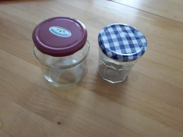 Sturzgläser für Marmelade Gurken usw