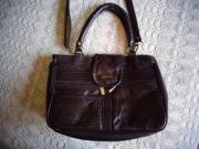 Tasche Handtasche Schultertasche Kunstleder braun