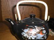 Teekanne Asia mit 4 Teeschälchen