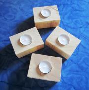 Teelichthalter aus Kanthölzern