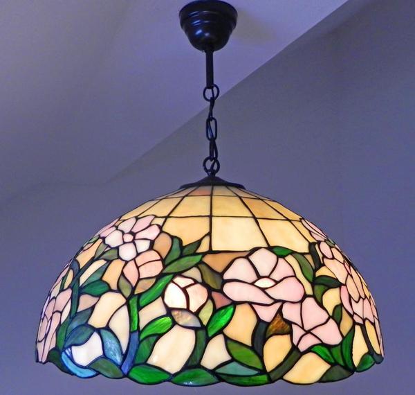 tiffany glas landhaus voglauer leuchte chalet lampe 52cm exclusiv bauernhaus bio in n rnberg. Black Bedroom Furniture Sets. Home Design Ideas