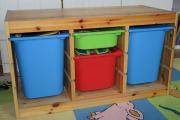 TROFAST mit Aufbewahrungsboxen