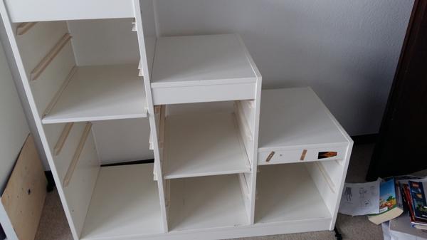 trofast regal weii gebraucht kaufen nur 4 st bis 70 g nstiger. Black Bedroom Furniture Sets. Home Design Ideas