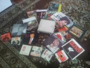 viele alte Schallplatten