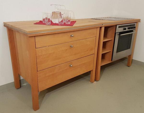 vollholz modulk che buche der firma annex freistehende designk che in erlangen k chenm bel. Black Bedroom Furniture Sets. Home Design Ideas