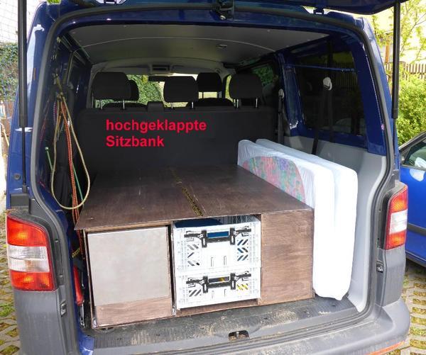 vw t5 campingbox mit schlaffunktion f r 2 personen in jena kleinbusse transporter kaufen und. Black Bedroom Furniture Sets. Home Design Ideas