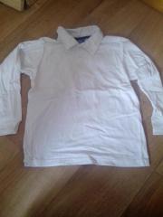 weisses Poloshirt Gr.