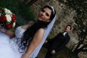Weißes Prinzessinnen-Hochzeitskleid