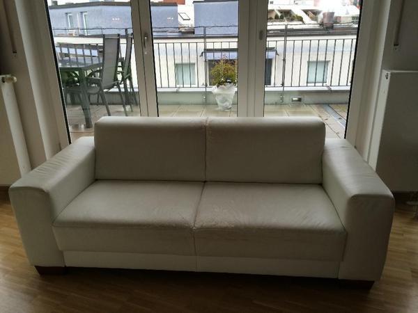 weißes textilleder-sofa gegen selbstabholung zu verschenken in, Hause deko