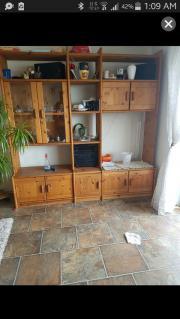 Wohnwand echtholz gebraucht  Massivholz Wohnwand - Haushalt & Möbel - gebraucht und neu kaufen ...
