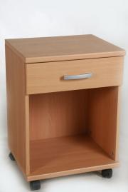 Wohnzimmer-Büro-Ablageschrank-Beistellschrank-Universalschrank Buche auf Rollen mit