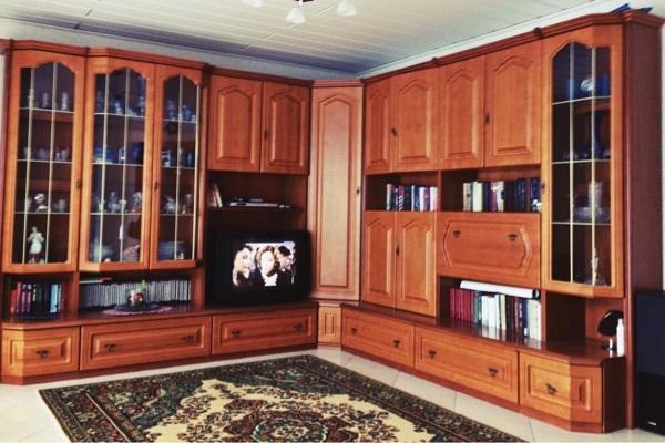 Wohnzimmer wandschrank kirschbaum massiv in birkenfeld wohnzimmerschr nke anbauw nde kaufen - Wandschrank wohnzimmer ...