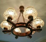 Wohnzimmerlampe Eiche Rustikal