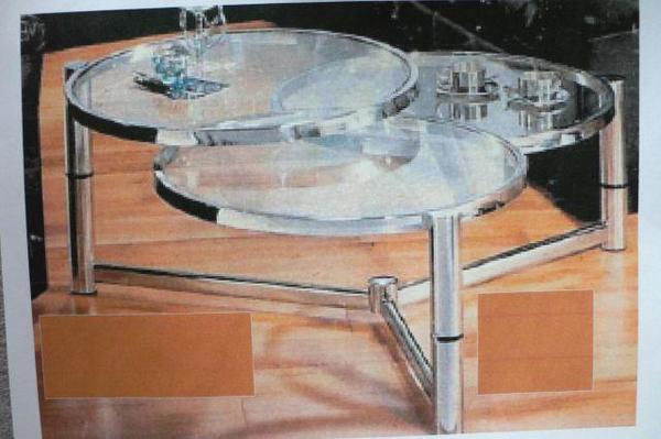 Tisch rund chrom gebraucht kaufen nur 4 st bis 75 for Wohnzimmertisch quoka