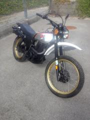 XT 500 Silbertank